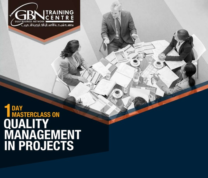 1 DAY MASTERCLASS ON QUALITY MANAGEMENT IN PROJECTS