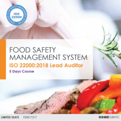 """"""" كبير مدققي سلامة الغذاء ISO 22000:2005 المعتمدة من منظمة أريكا العالمية IRCA """"  IRCA ISO 22000 :2018 LEAD AUDITOR TRAINING COURSE"""